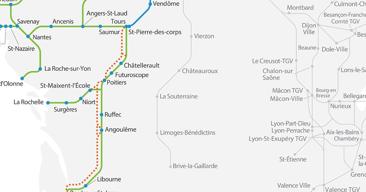 Map Of France Rail System.Maps Of The French Rail Network By Sncf Reseau Sncf